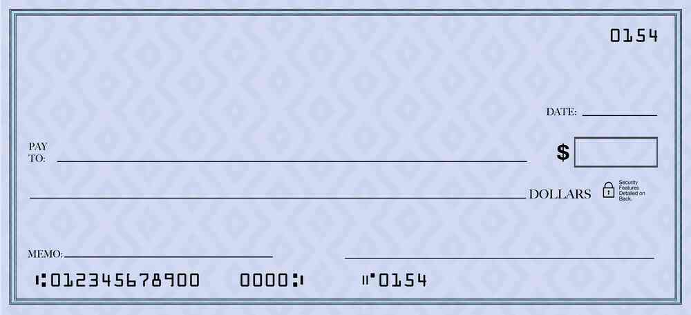 Bank routing number from check