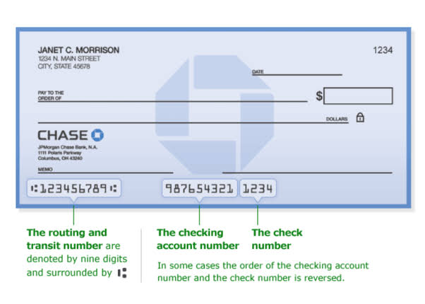 Chase bank routing number for wires