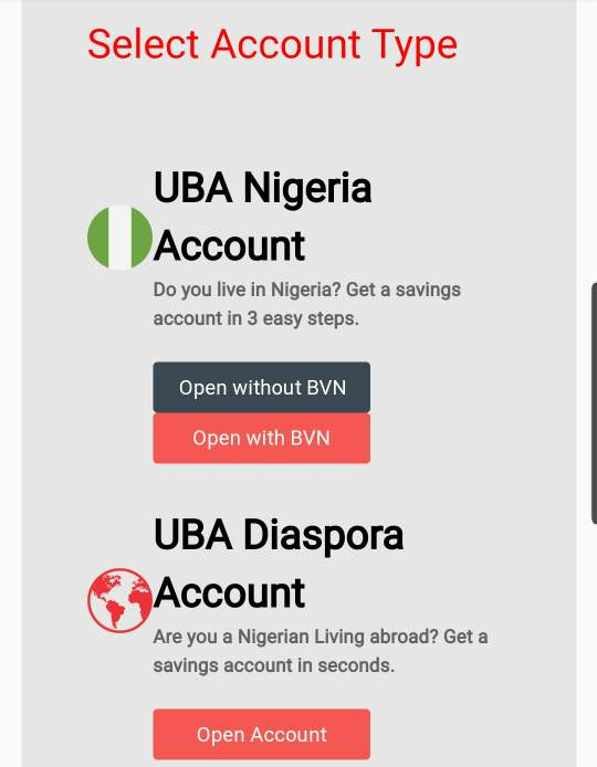 maximum amount for uba student account