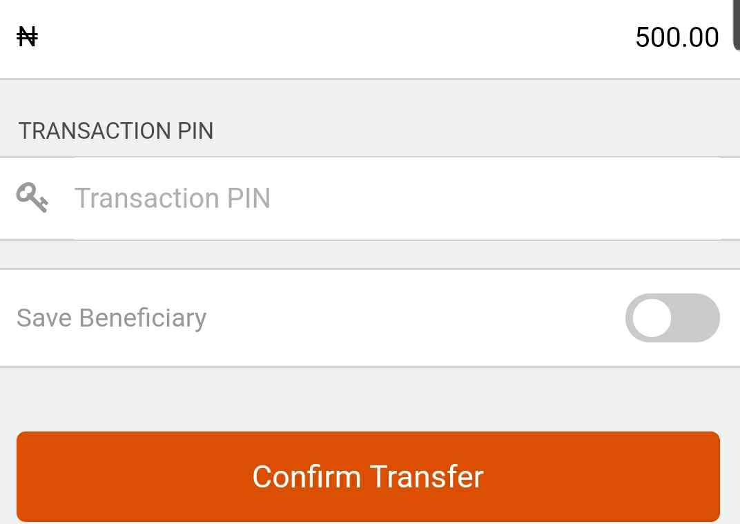 Save beneficiary on gtbank mobile app