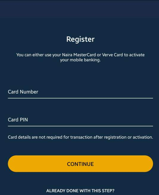 How to register first bank mobile app