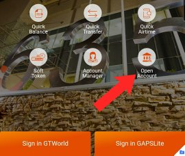 how to open gtbank mobile wallet