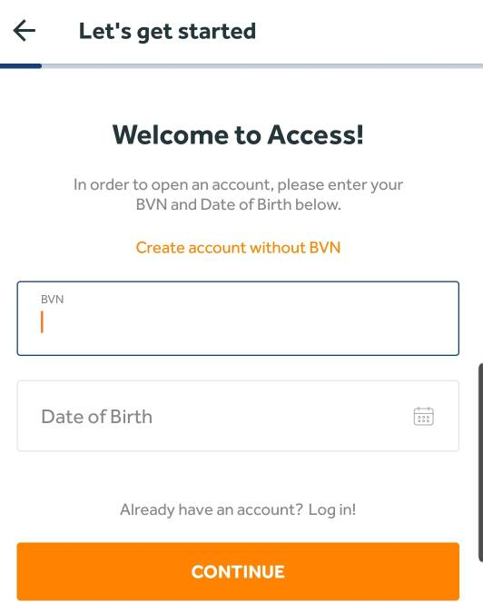 how to open access bank account online