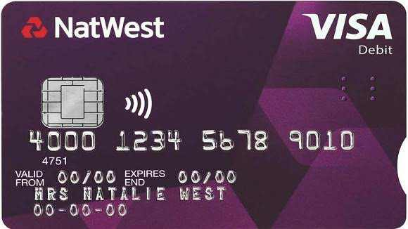 where is my account number on my natwest debit card